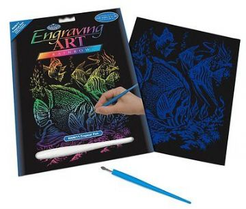 ENGRAVING ART SET - TROPICAL FISH (RAINBOW FOIL) by ROYAL & LANGNICKEL